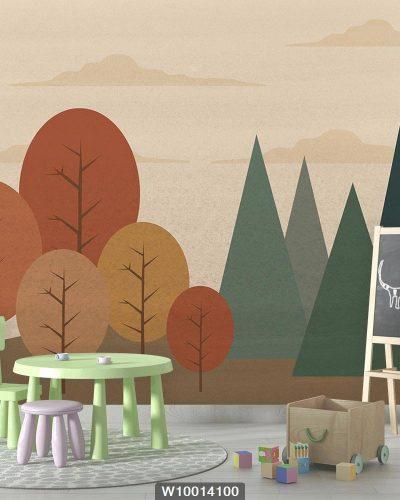 پوستر دیواری اتاق کودک طبیعت و منظره W10014100
